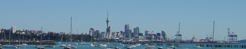 View of Auckland from Kelly Tarltons